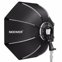 Neewer 26 inches Octagonal Softbox with S type Bracket, Case for Canon Nikon