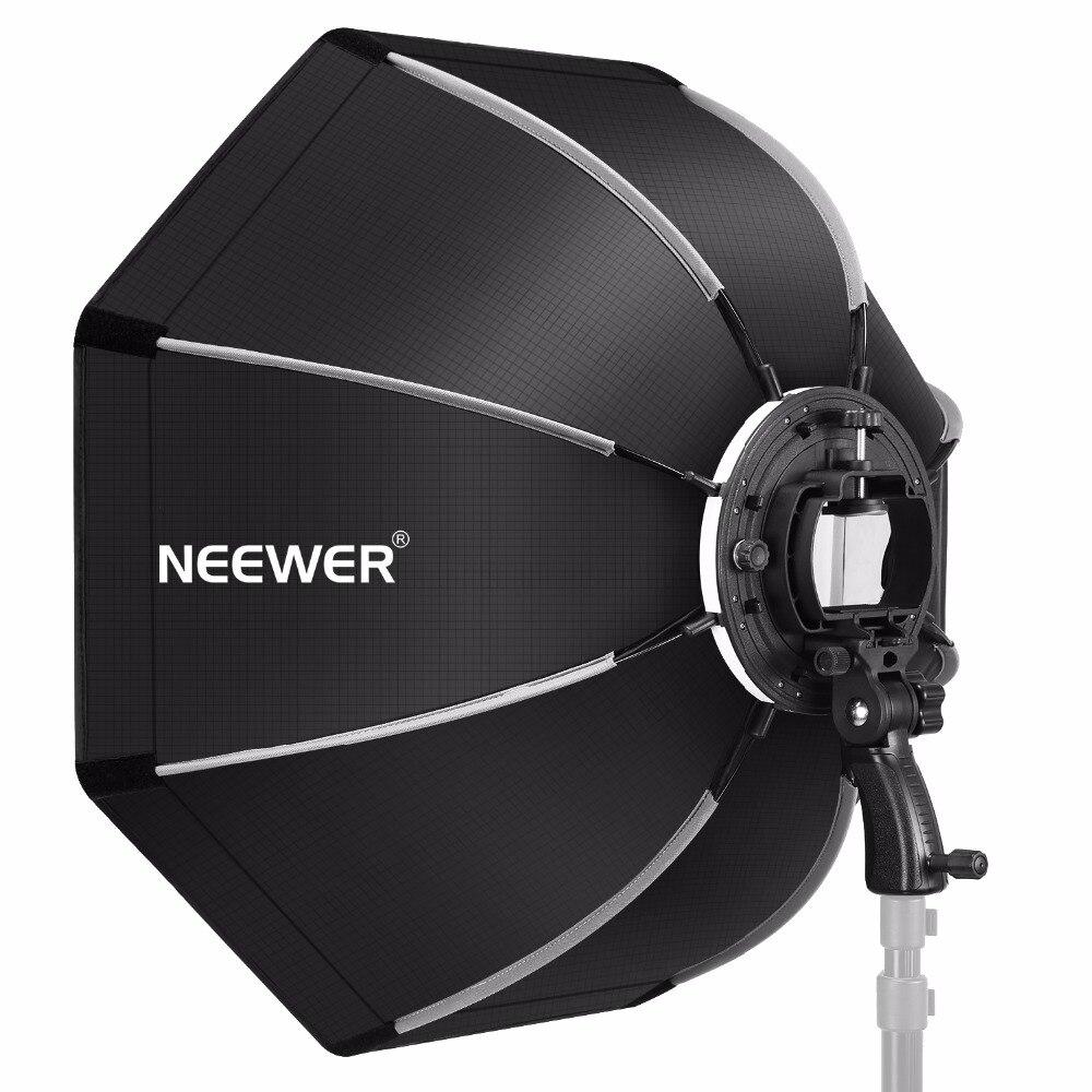 Neewer 26 pouces Octogonale Softbox avec S-type Support, Cas pour Canon Nikon