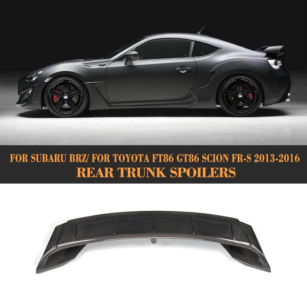 Carbon Fiber Scion Xb With Photos: Carbon Fiber Car Trunk Spoiler Lip Wing For Subaru BRZ For