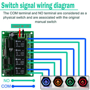 Image 4 - DC 12V 4 Gangs Relay Module 433MHz Receiver Wireless Remote Control Switch Motor Controller for Anti theft alarm with Jump Cap