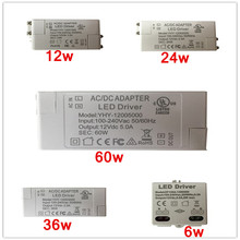 1 PC LED Driver AC 110V 220V to DC12V Led Power Adapter Transformers for LED Strip 6W 12W 24W 36W 60W Power Supply цена