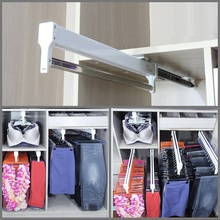 Premintehdw Top Mount Pull Out Pull Out Closet Cloth Jacket Hanger(China)