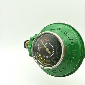 Image 5 - 1 Inlet 1 Outlet 1/2PT Thread Liquefied LGP Gas Gauge Pressure Regulator Green