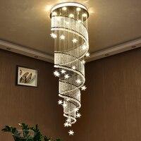 مصابيح غرفة المعيشة الحديثة led كريستال معلق فندق فيلا قاعة أضواء قلادة مصباح الجدة الشمال شنقا الإضاءة