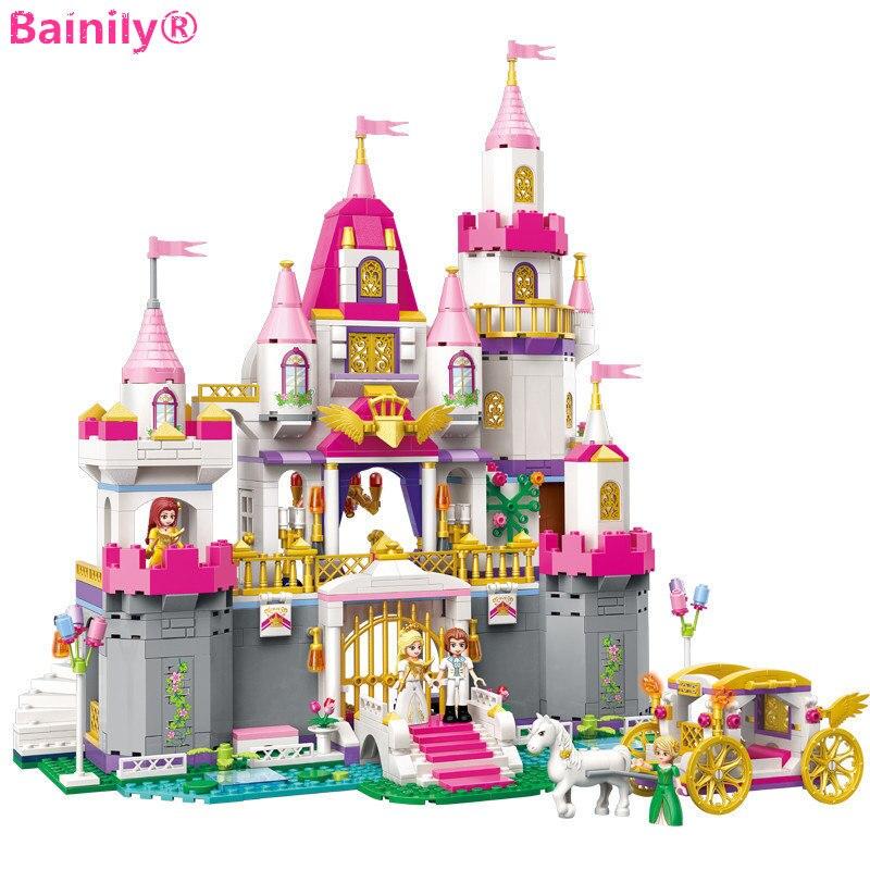 Galleria fotografica [Bainily] City Girls Serie Angelo Castello Celebrazione Building Blocks Modello del Dono Giocattoli Per Bambini Compatibili con <font><b>LegoINGly</b></font> Amici