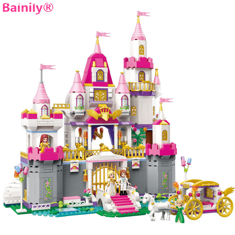 [Bainily]City Girls Series Angel Castle Celebration Building Blocks Model Gift Children Toys Compatible with LegoINGly Friends скатерть angel ya children tsye zb266 88