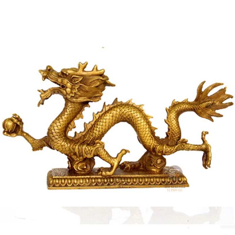 Un dragon zodiaque dragon Hanlong base Dragon chanceux tigre blanc rappel officiel photo encens ding cuivre