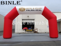 Good quality promotion square red advertising inflatable arch blowup sports arch gate door with printing