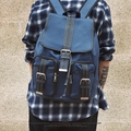 Original backpack backpack male male Korean travel bag computer PU fashion leisure bag leather men