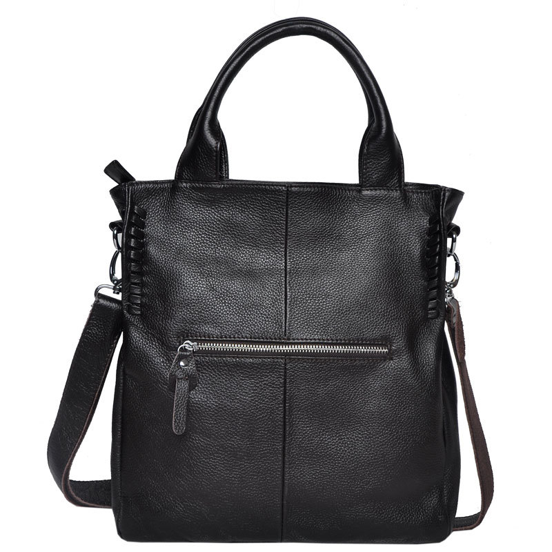 9631b7c3cc28 Luxury Design Women s Genuine Leather Casual Tote Handbag Ladies Crossbody  Bags Soft Black Purses Girl Sac Femme Satchel Bolsos