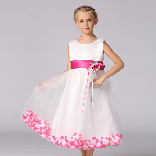 Flower girl dresses long wedding kids evening gown children red pink purple  blue gold green teenage formal dress ceremony child 415043f3d
