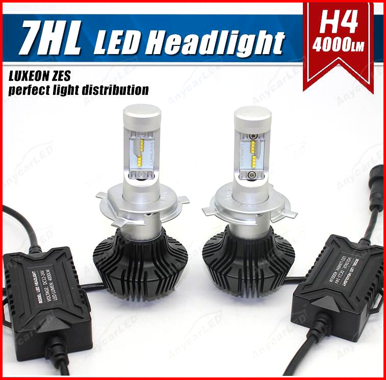 1 Set H4 HB2 9003 50W 8000LM G7 LED Headlight Ki LUMILED LUXEON ZES 32LED SMD Chip Fanless 6500K Pure White Hi/Low Beam Driving 1 set 9012 hir2 90w pair philip lumiled headlight 9000lm luxeon mz brighter white 6500k car truck 45w bulb 4500lm h4 h7 h9 h13 page 2