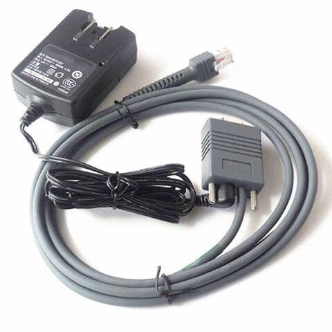 6ft 2 m rs232 serial cable adaptador de alimentacao ca para motorola simbolo ls2208 ls4208