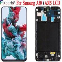ทดสอบ 100% สำหรับ Samsung Galaxy A30 A305/DS A305F A305FD A305A จอแสดงผล LCD Touch Screen Digitizer ASSEMBLY สำหรับ Samsung a30 LCD