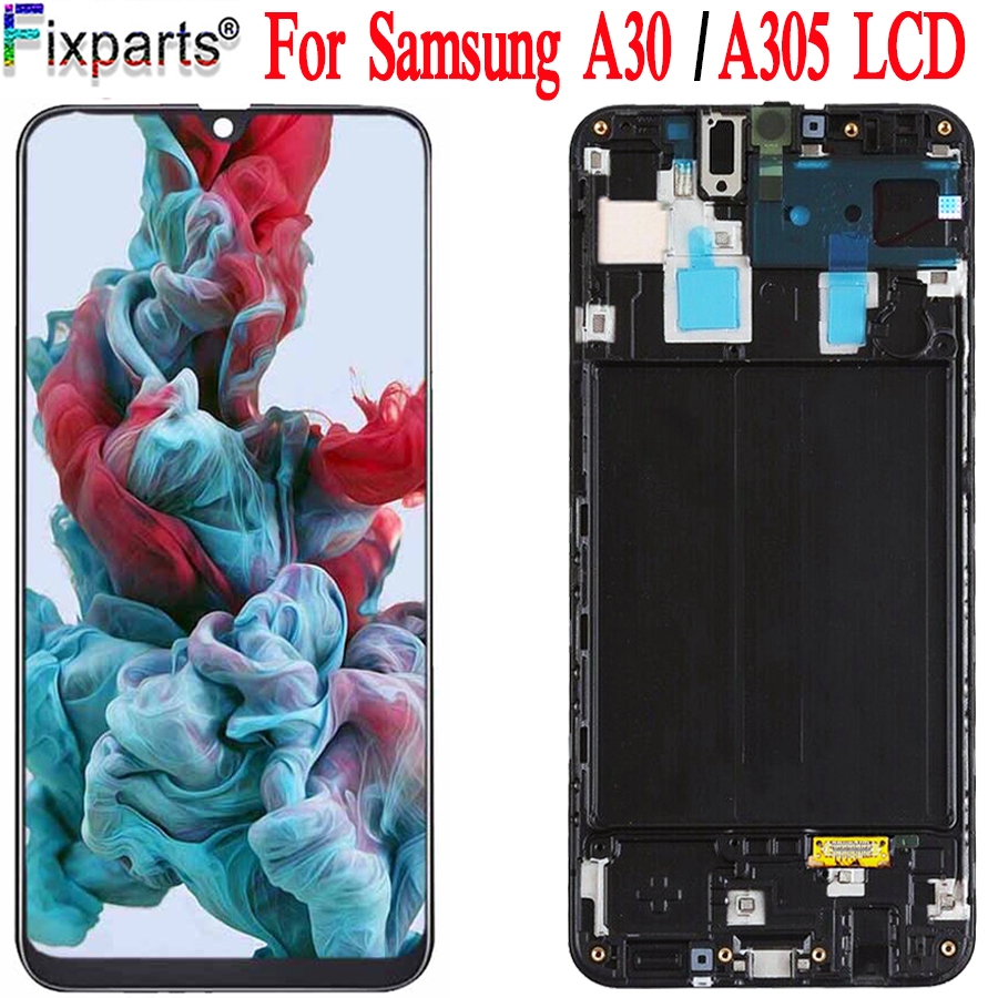 100% Test For <font><b>Samsung</b></font> Galaxy <font><b>A30</b></font> A305/DS A305F A305FD A305A <font><b>LCD</b></font> Display Touch Screen Digitizer Assembly For <font><b>Samsung</b></font> <font><b>A30</b></font> <font><b>LCD</b></font> image