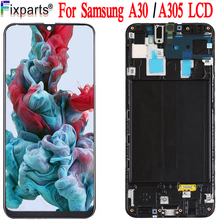 100% di Prova Per Samsung Galaxy A30 A305/DS A305F A305FD A305A Display LCD Touch Screen Digitizer Assembly Per Samsung a30 LCD
