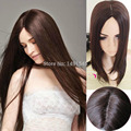Charming Sexy Synthetic Wig Women Dark Brown  Long Straight  Bang Cosplay Fake Hair Supplier Kinky Peluca 65cm Promotion