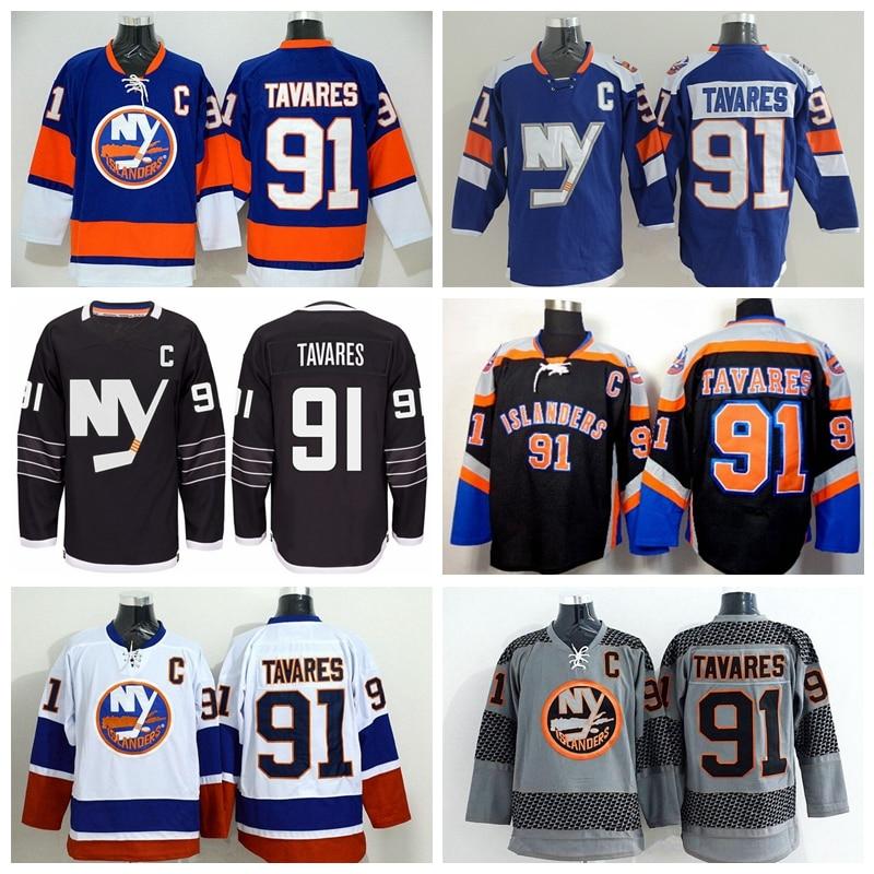 d03a531bcaf ... New York Islanders 91 John Tavares Jersey Black Premier Alternate Blue  White Orange Gray Tavares Stadium ...