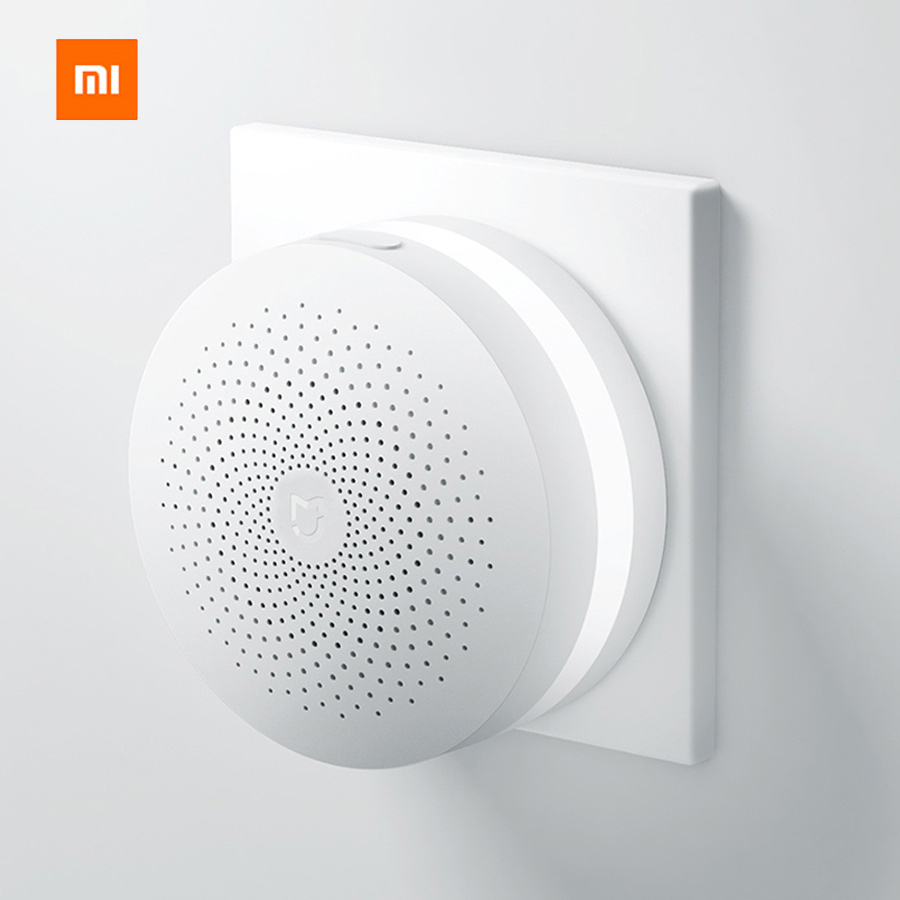 Original Xiaomi Smart Home Gateway Multi-functional Upgraded Smart Temperature and Humidity Sensor WiFi Remote Control by Mi APP