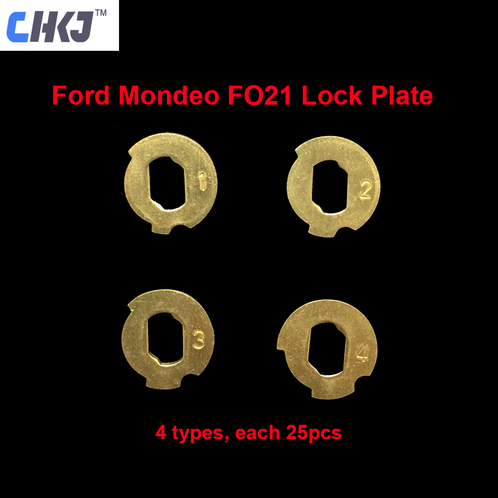 CHKJ 100pcs/lot Car Lock Reed FO21 Plate For Ford Mondeo NO 1.2.3.4 Each 25PCS For Ford Lock Repair Kits Locksmith Supplies
