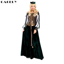 Ancient Greece Female General Cosplay Byzantium Queen Armor Tunic Gown Costume Medieval Gothic Dress Burgundy Style Clothing