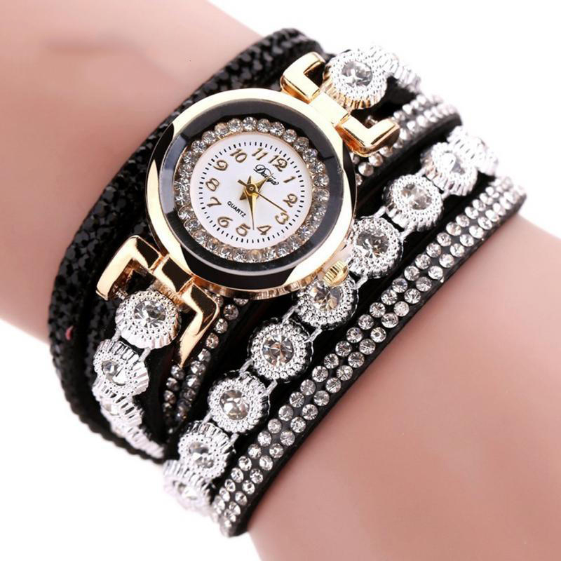 TIke Toker Fashion Luxury Rhinestone Armbandsur Klockor Ladies Quartz - Herrklockor - Foto 3