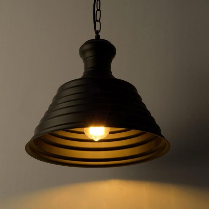 Lámpara colgante de hierro forjado retro de la industria del estilo del desván lámpara creativa de la tapa colgante de la luz de la barra del café iluminación de la ingeniería art decó