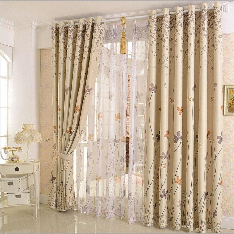 Pastoralen Clover Design Dekor Vorhänge Für Fenster Vorhänge Sheer Tüll  Elegantes Wohnzimmer Vorhänge Panel Vorhang Set
