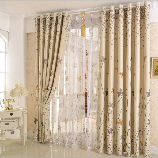Pastoral Clover Design Decor Curtains For Window Drapes Sheer Tulle