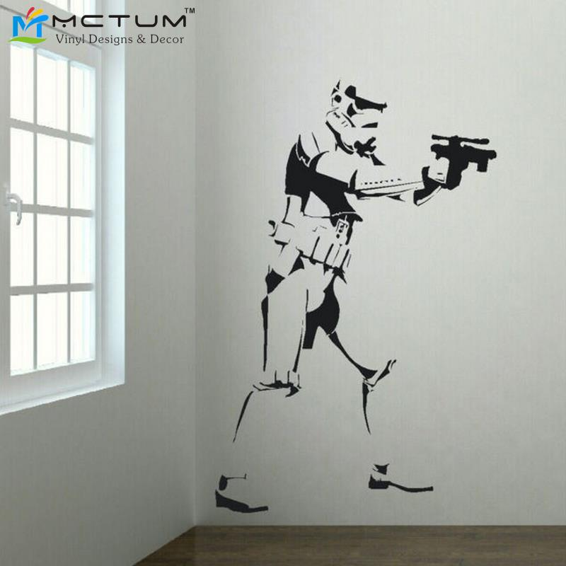 Exceptional XTRA LARGE STORM TROOPER MOVIE POSTER VINYL WALL STICKER LIFE SIZE WALL ART  BIG MURAL WALL ART WALL STICKERS FOR KIDS ROOM In Wall Stickers From Home  ... Part 22