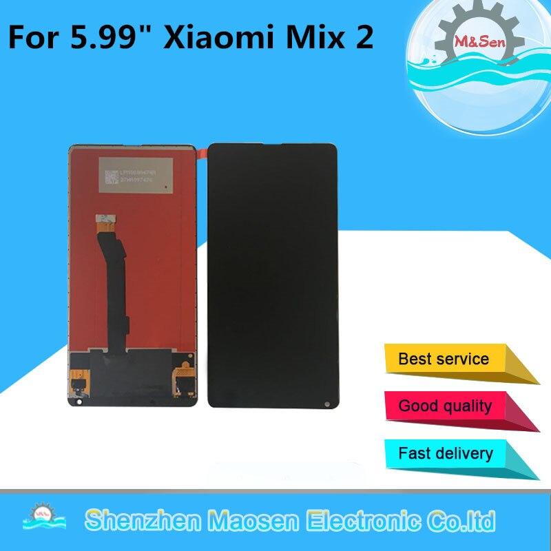 """5.99"""" M&Sen For Xiaomi Mi Mix 2 Mix2 LCD Screen Display+Touch Screen Panel Digitizer For Xiaomi Mi Mix 2 Mi Mix Evo Display"""