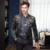 2016 Hombres Dragón Floral Blazer Moda Casual Primera Marca Hip Hop Banquete de Boda Terno masculino vT111