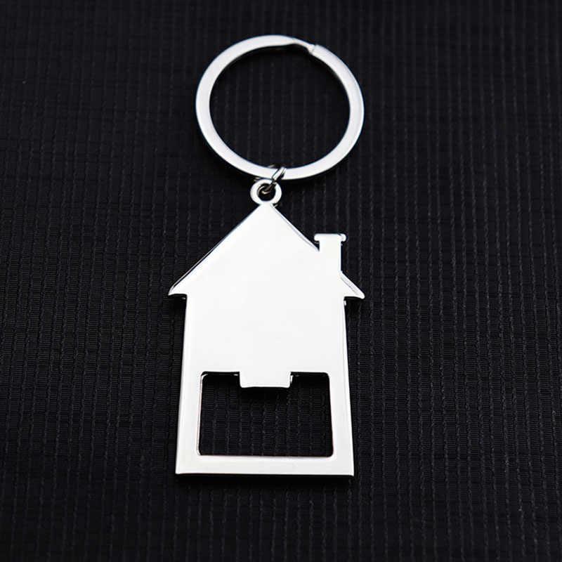 ขายส่งใหม่ผู้ชายและผู้หญิง House ที่เปิดขวดกุญแจสามารถปรับแต่งบุคลิกภาพโลโก้ Real Estate ของขวัญจี้