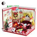 Doll House assembling DIY Miniature Model Kit Wooden Doll House  3D Miniature Wooden Dollhouse Toy Dollsunique House Toy With