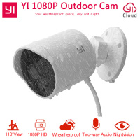 YI Outdoor Security Camera 1080P HD Two way Audio IP Waterproof Cloud Cam Wireless Night Vision Security Surveillance System