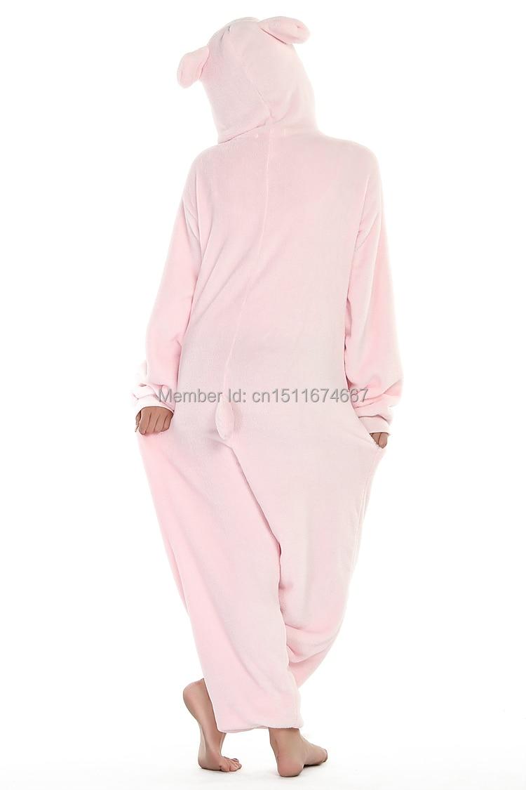 Dikke zachte flanel anime kostuum roze varken onesie pyjama halloween - Carnavalskostuums - Foto 6