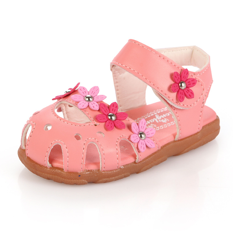759a4e2358c5 2019 summer style children shoes baby girls sandals girls shoes baby girl  rivets flower sandals soft shoes girls hot selling-in Sandals from Mother    Kids ...