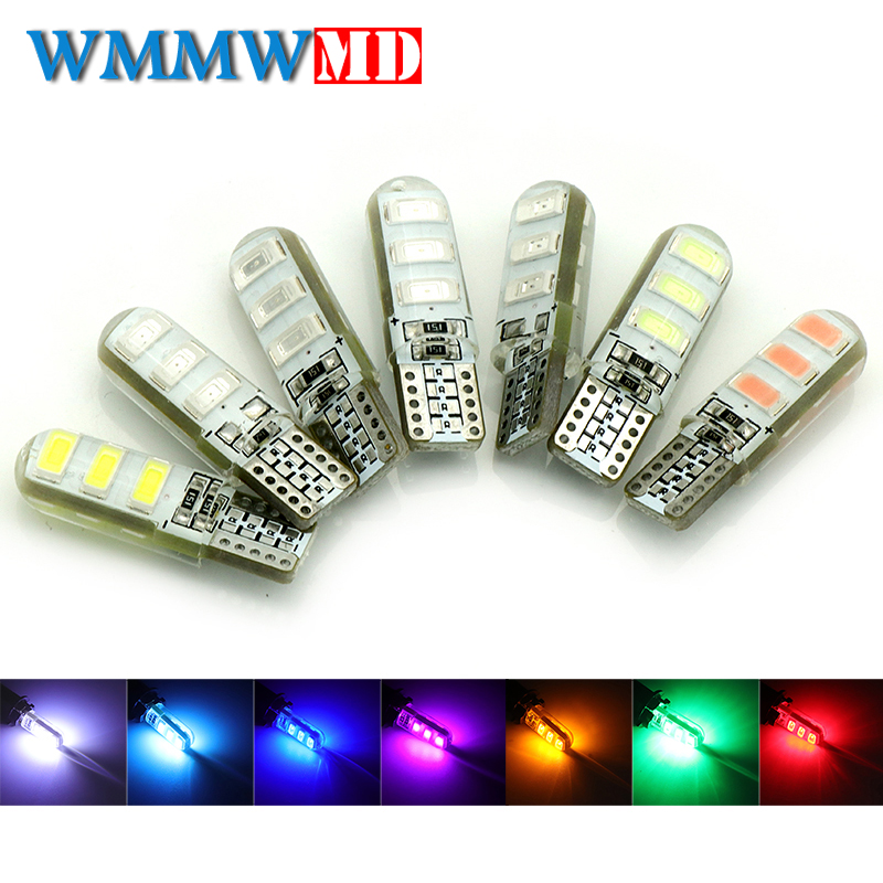 2Pc T10 W5W 6 LED car interior light 5630 5730 LED lamp 12V 194 501 bulb wedge parking dome light white auto Turn Side lamps 12V 10pcs led car interior bulb canbus error free t10 white 5730 8smd led 12v car side wedge light white lamp auto bulb car styling