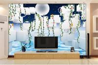 Özel duvar resimleri fotoğraf 3d duvar kağıdı dokunmamış duvar Kare çiçek asma boyama 3d kanepe TV arka plan duvar odası duvar kağıdı tasarımlar