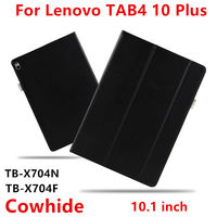 Case Cowhide For Lenovo Tab 4 10 Plus Smart Cover Genuine Leather Protective Tab4 10plus TB