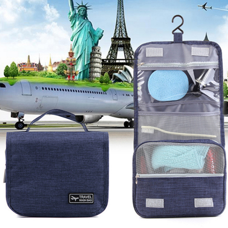 Simple Hanging Toiletry Kit Clear Travel Storage Bag Cosmetic Carry Toiletry Pockets For Womens Gril Gift Traveling Bathroom