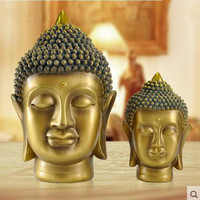 Buddha head, Buddha statue decoration crafts, religious supplies