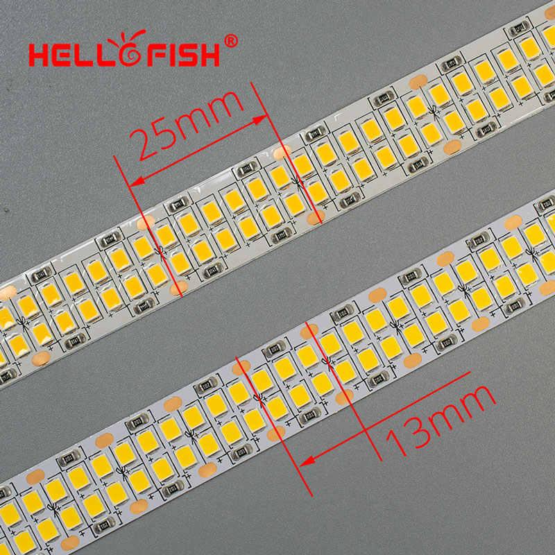 24V светодиодный полосы 2835 SMD 1200 2400 светодиодный s Диодная лента гибкая печатная плата задние габаритные огни 12В светодиодный подсветка полосы светодиодный лента белый/теплый белый