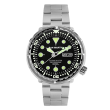 San Martin Tuna SBBN015 Men Fashion Watch Automatic Diving Sport Watch Stainlss Steel Watch 300m Water Resistant Ceramic bezel