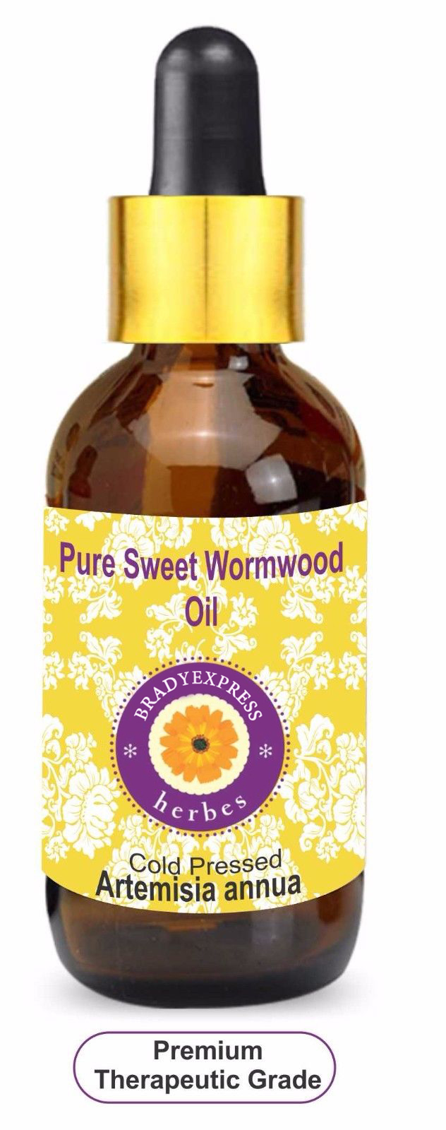 FRee Shipping Pure Sweet Wormwood Essential Oil Artemisia annua 100% Natural Therapeutic Grade 5ML