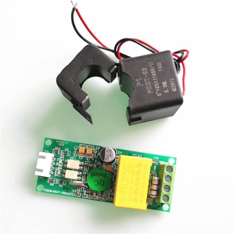 PZEM-004T versão de atualização ac monofásico multifunction ampere medidor watt potência volt amp kwh ttl modbus com divisão ct para arduino