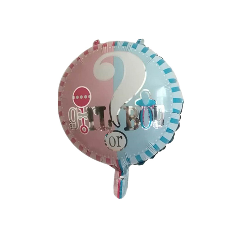 5pcs 18inch Gender Reveal Foil Balloons Bouquet Blue Pink Baby Boy Or Girl Balloon Baby Shower Party Question Mark Balls