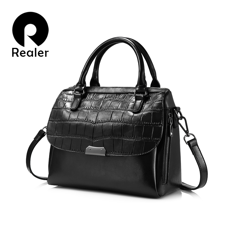 women leather handbags women shoulder bags  high quality ladies casual tote bags large capacity with alligator prints