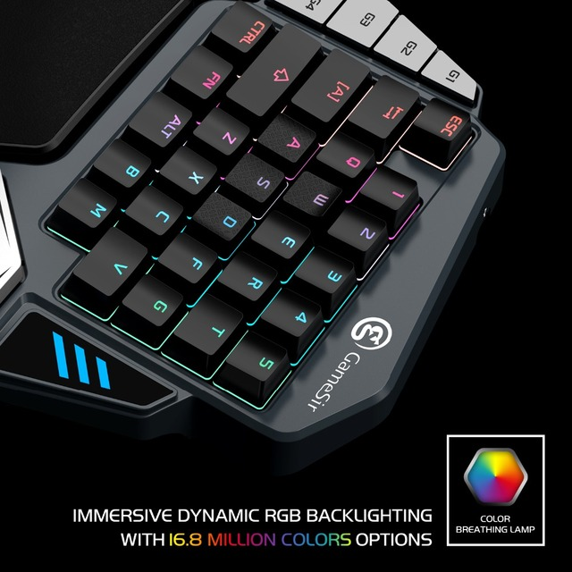 GameSir Z1 Gaming Keypad, One-handed Cherry MX red switch keyboard / Mechanical Blue axis /BattleDock, Gaming mouse optional