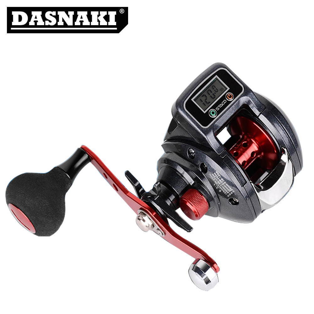DASNAKI Baitcasting single handle fishing reel with electronic display line counter 5.0 kg Power baitcast jigging reels DASNAKI Baitcasting single handle fishing reel with electronic display line counter 5.0 kg Power baitcast jigging reels